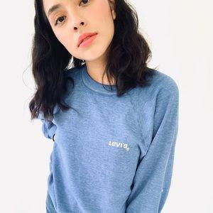 Softest blue vintage Levi's raglan sweatshirt S/M